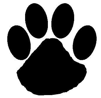 Dog paw print stamps dog prints clip art 2
