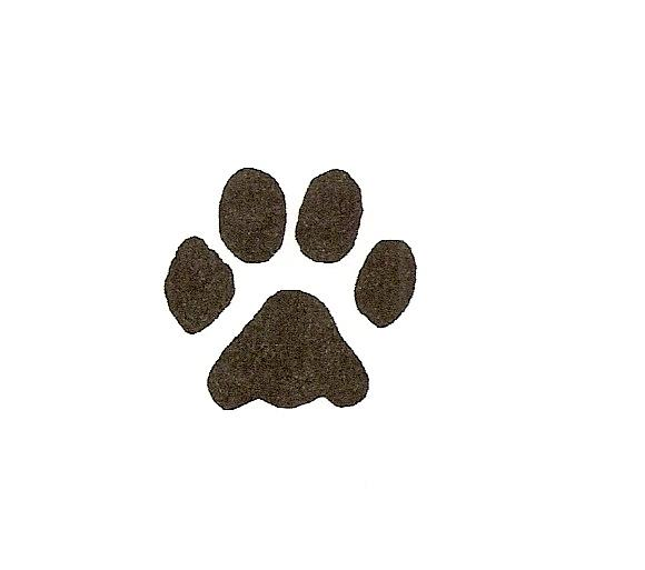 Dog paw print stamps dog prints clip art image