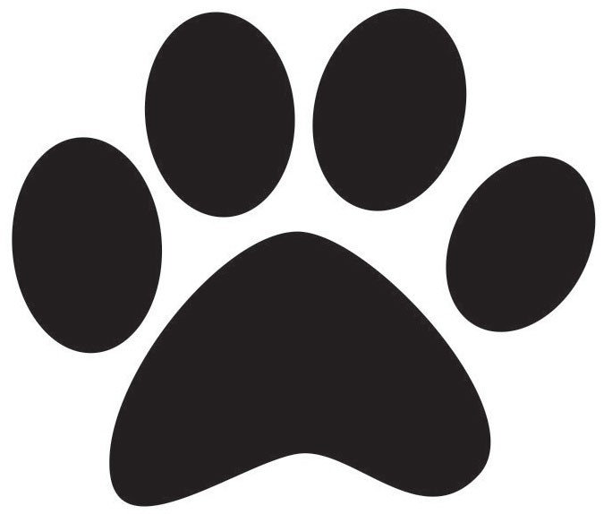 Dog paw print template clipart