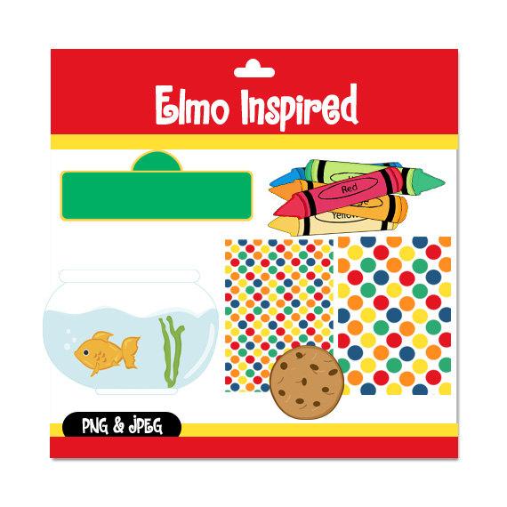 Elmo sesame street clipart