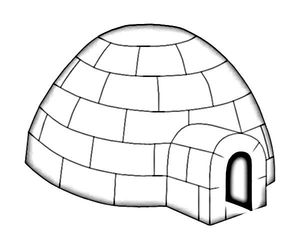 Eskimo igloo clipart 2