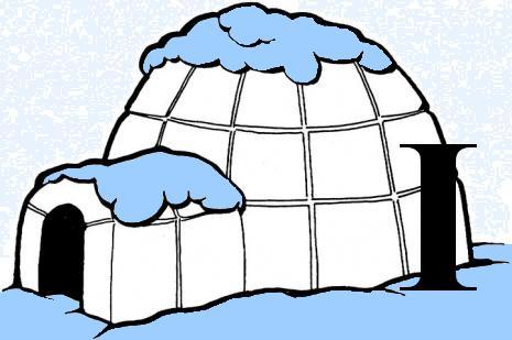 Eskimo igloo clipart