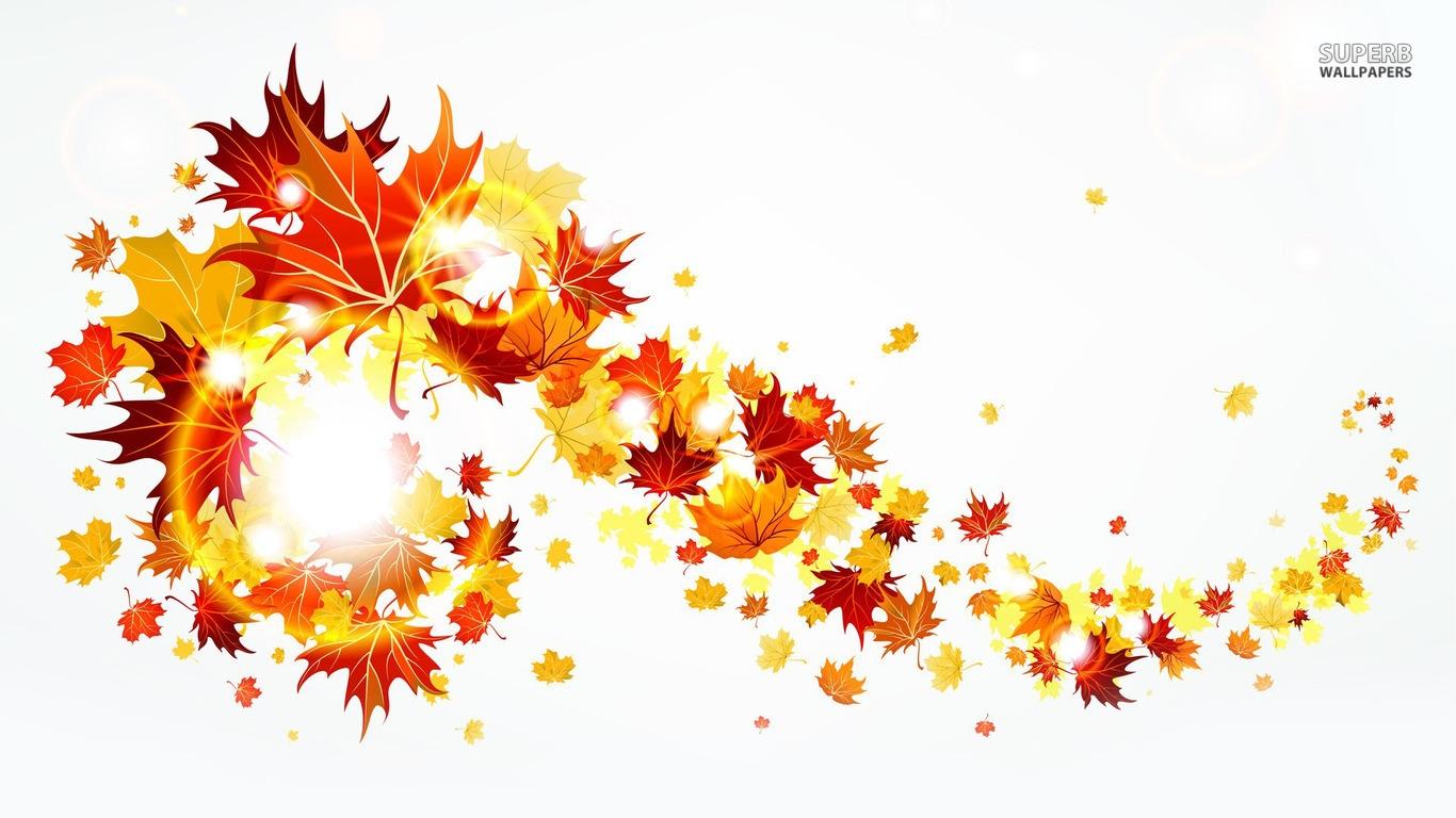 Fall border fall foliage border clipart