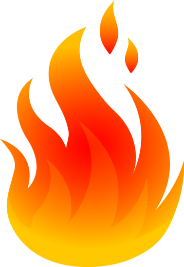 Fire flame clipart image 7