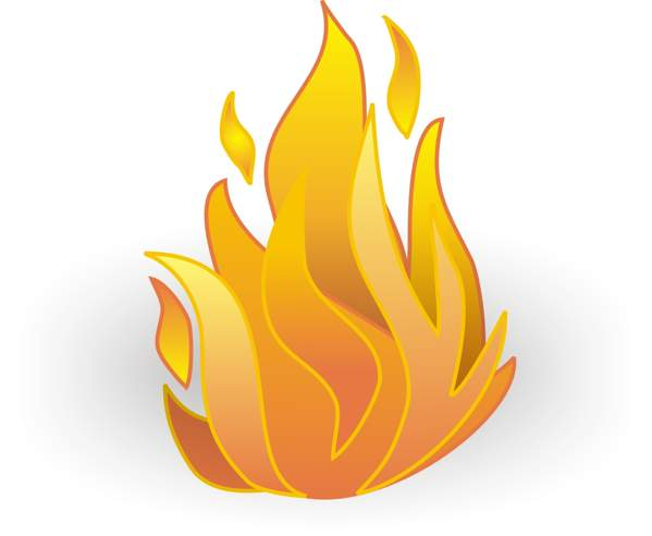 Fire free flame clipart image