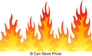 Flame background clipart
