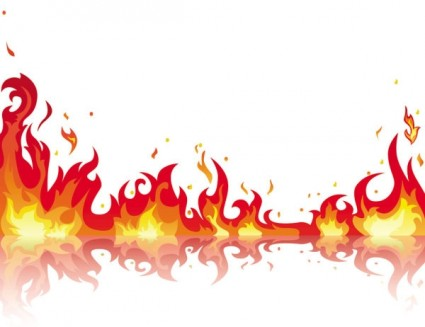 Flame border clipart 2