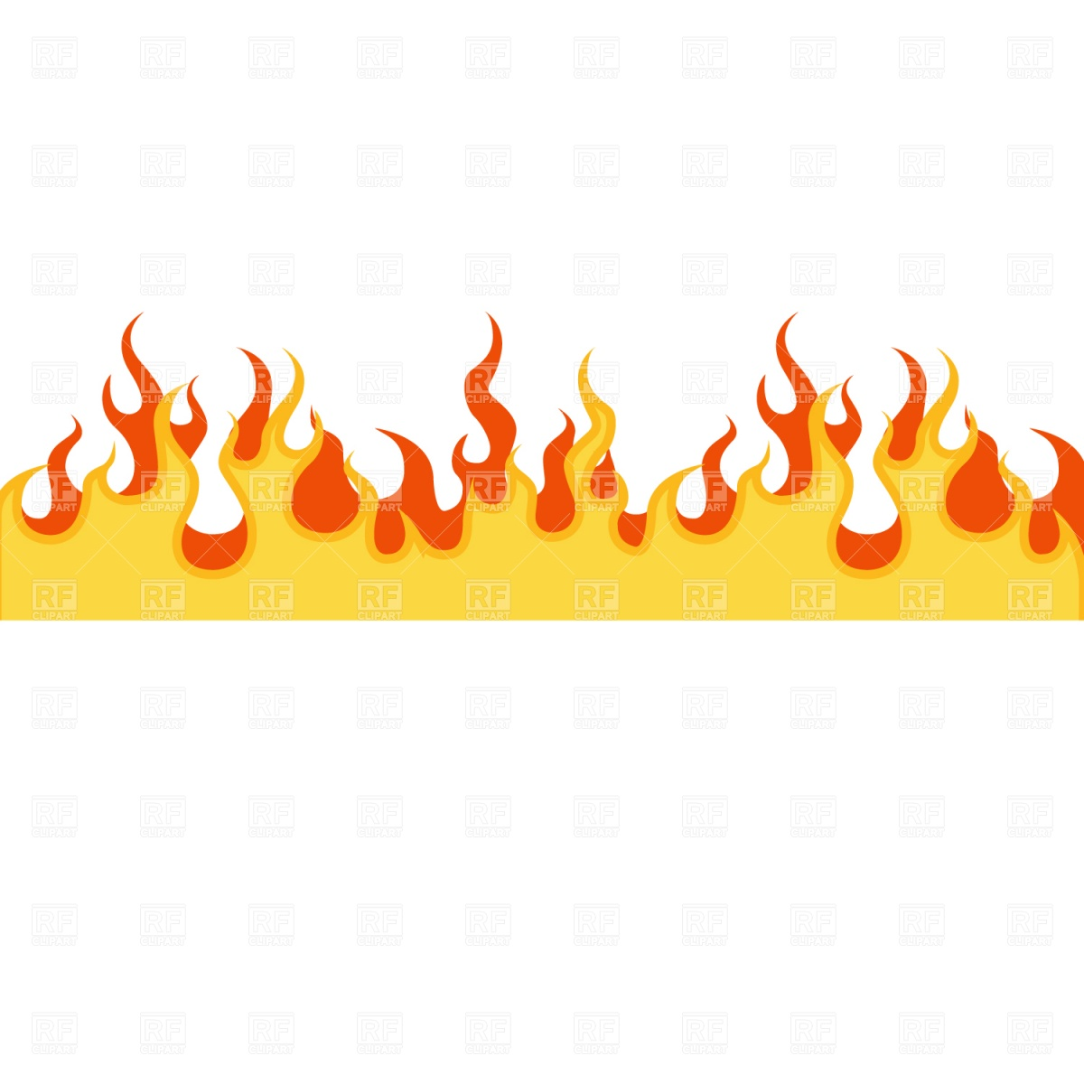 Flame border clipart