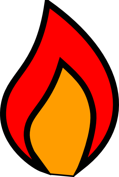 Flame clip art free clipart images 4