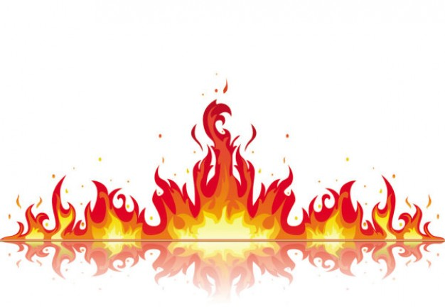 Flame clipart 6