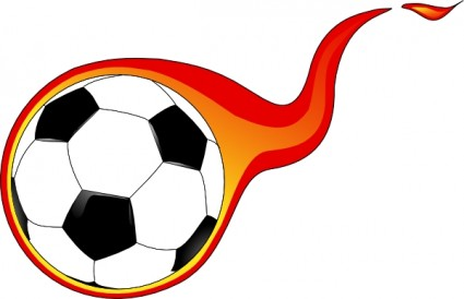 Flaming soccer ball clip art free vector in open office drawing
