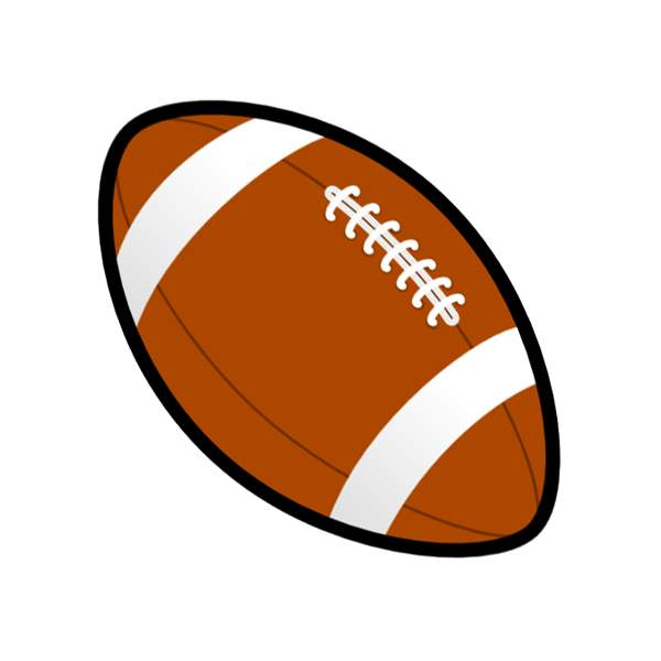 Football clip art with transparent background 2