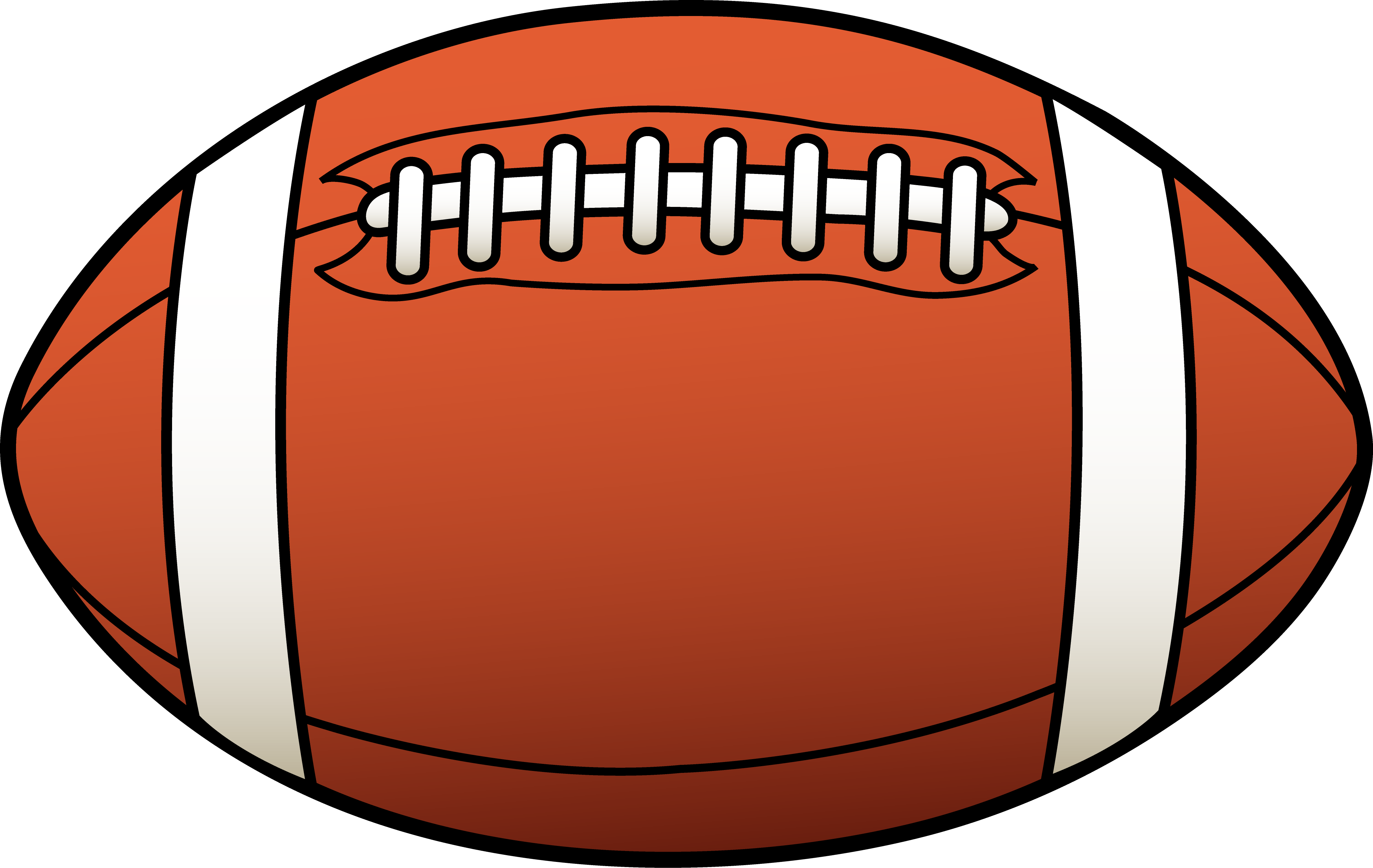 Football clipart black and white free images 2