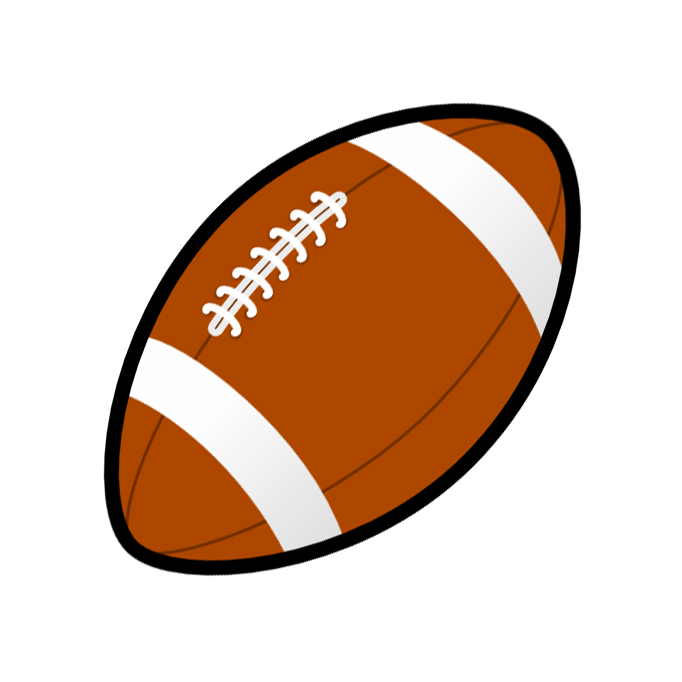 Football clipart black and white free images 4