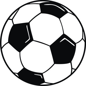 Football clipart black and white free images 5