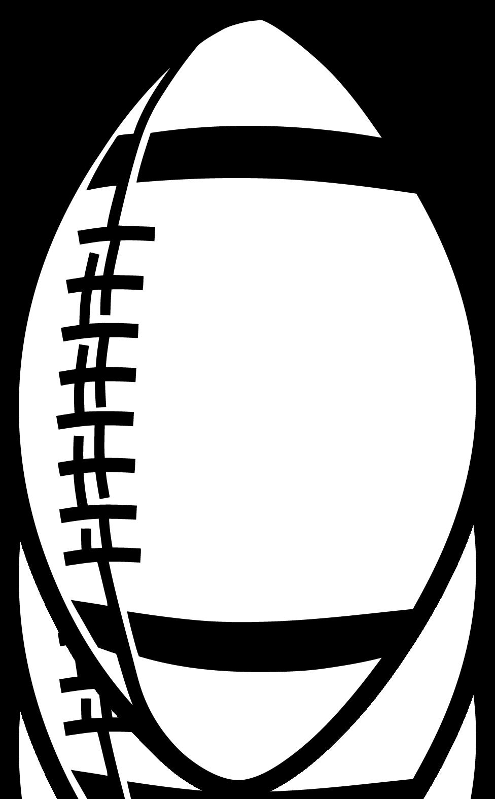 Football outline clipart 5