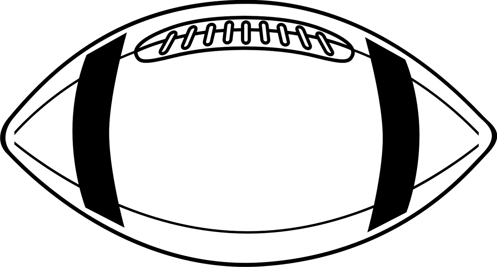 Football outline clipart