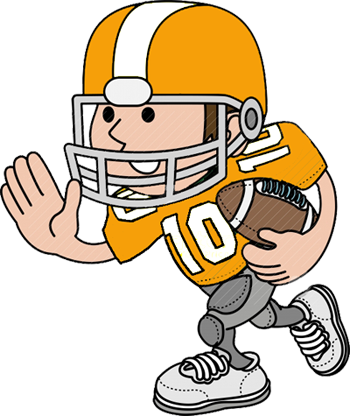Football player tackling clipart free images 2