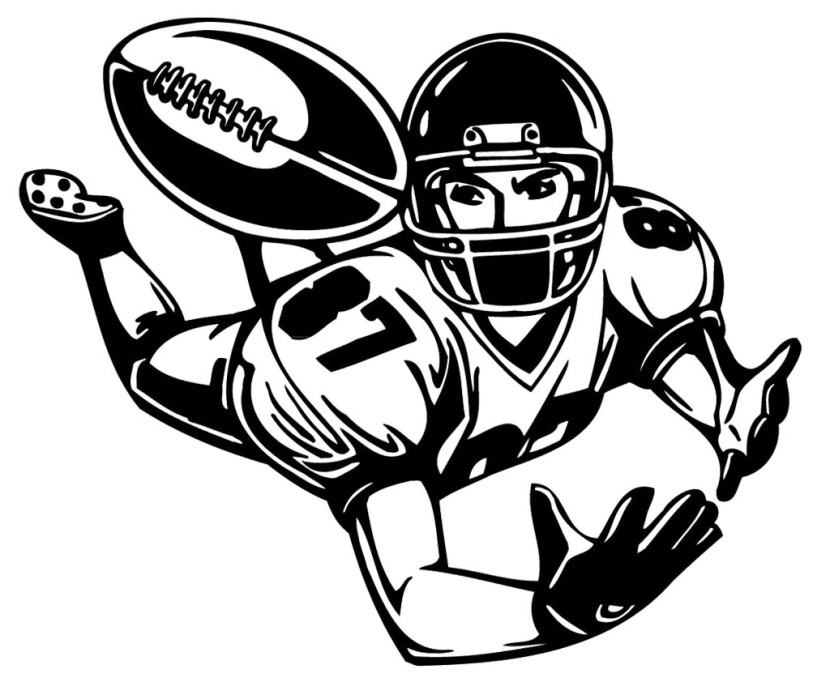 Football player tackling clipart free images 3