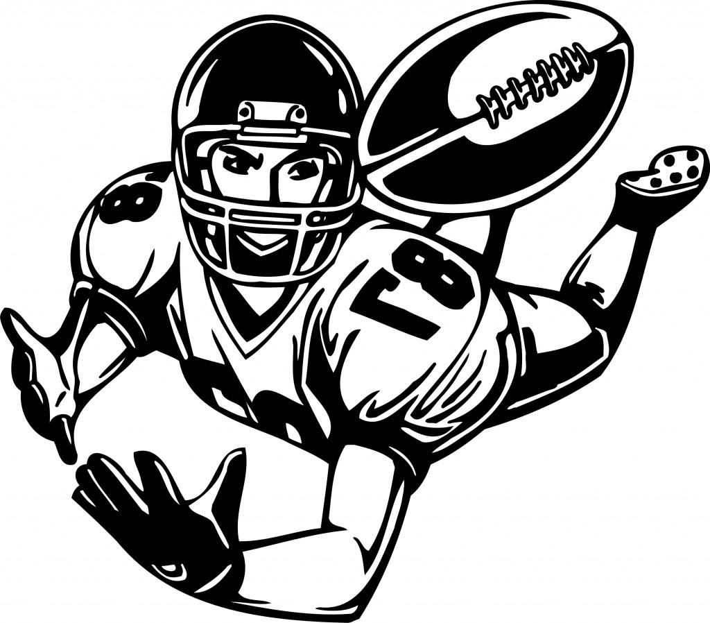 Football player tackling clipart free images