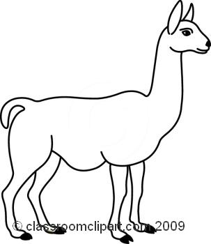 Free cartoon llama clipart image 2
