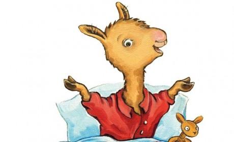 Free cartoon llama clipart image