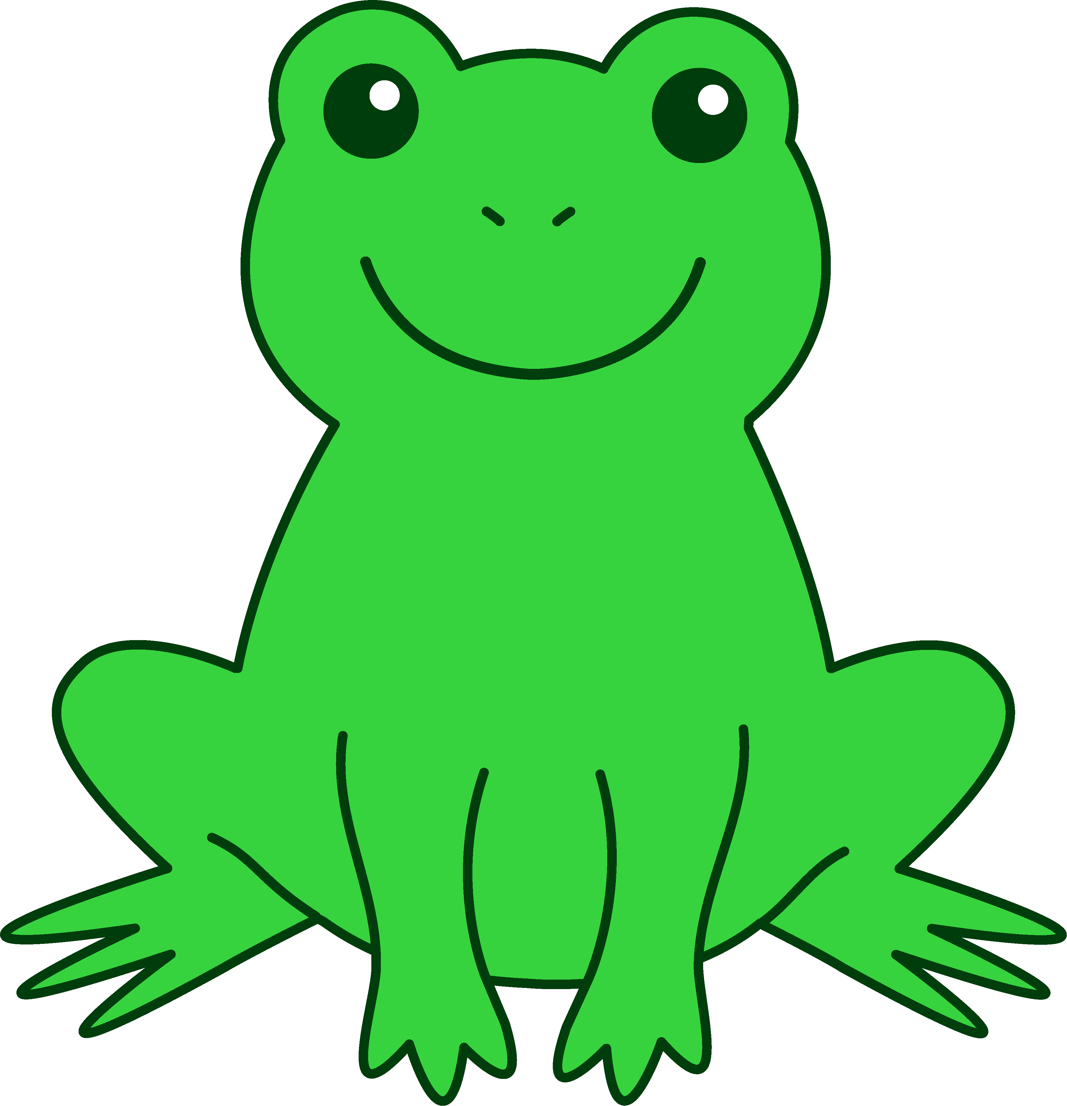 Free cute frog clip art clipart images