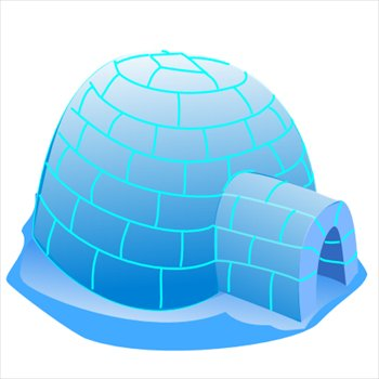 Free igloo clipart graphics images and photos