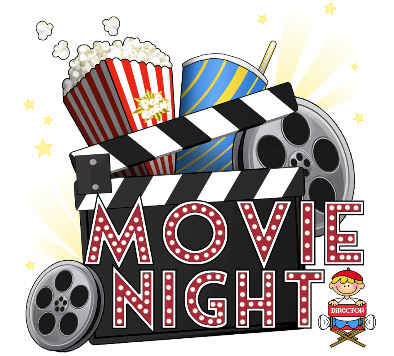 Free movie night clipart cliparts and others art inspiration