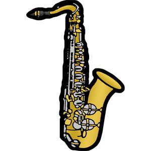 Free saxophone clip art image beginning band