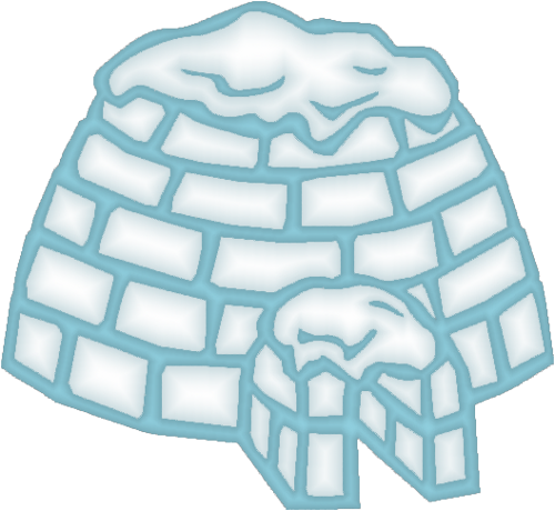 Free simple igloo clip art