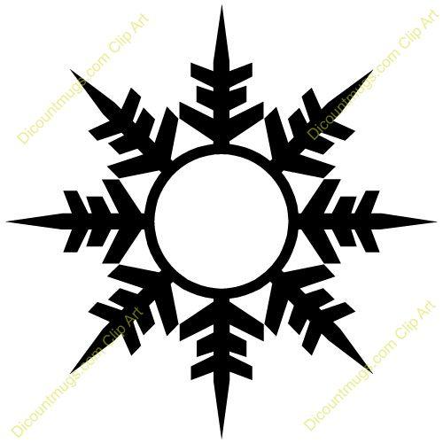 Free winter snowflake clipart custom clip art stencils