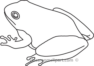 Frog  black and white animals frog clipart outline clipart