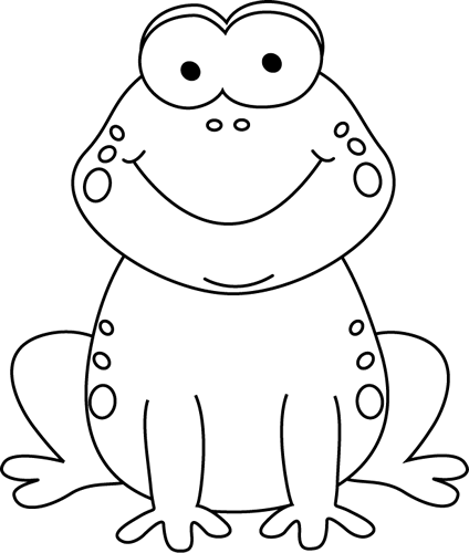 Frog  black and white black and white cartoon frog clip art