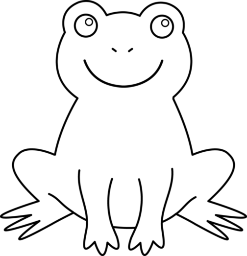 Frog  black and white black and white picture of frog clipart free to use clip art