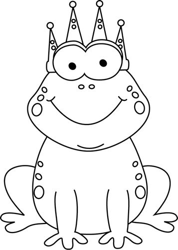 Frog  black and white clip art black and white black white frog prince clip art