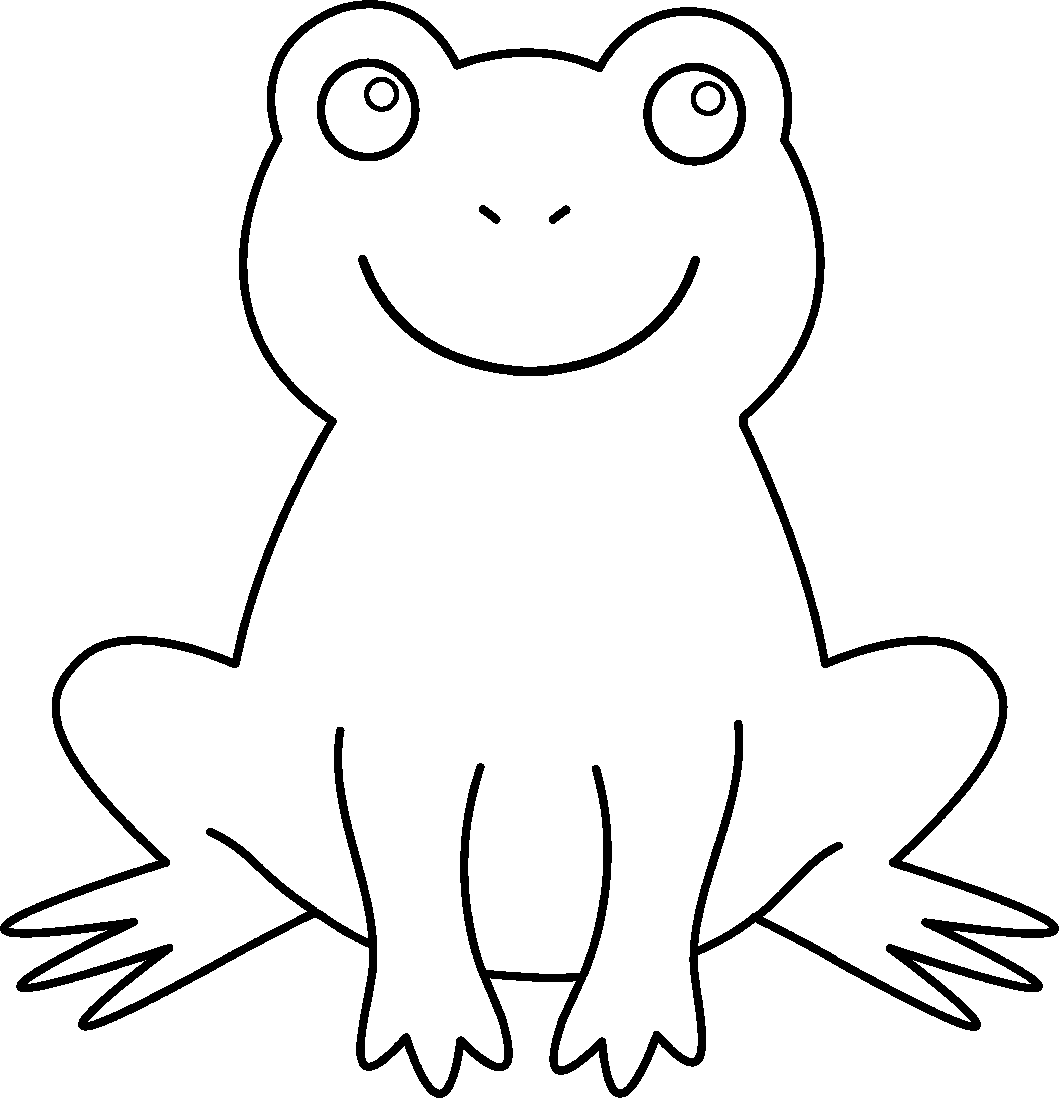 Frog  black and white cute frog clipart black and white free 2