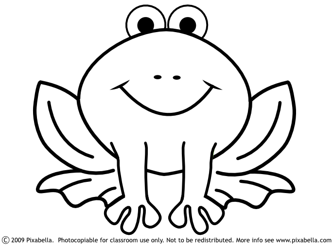 Frog  black and white cute frog clipart black and white free 4