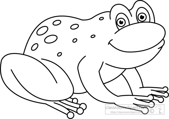 Frog  black and white frog black and white clipart