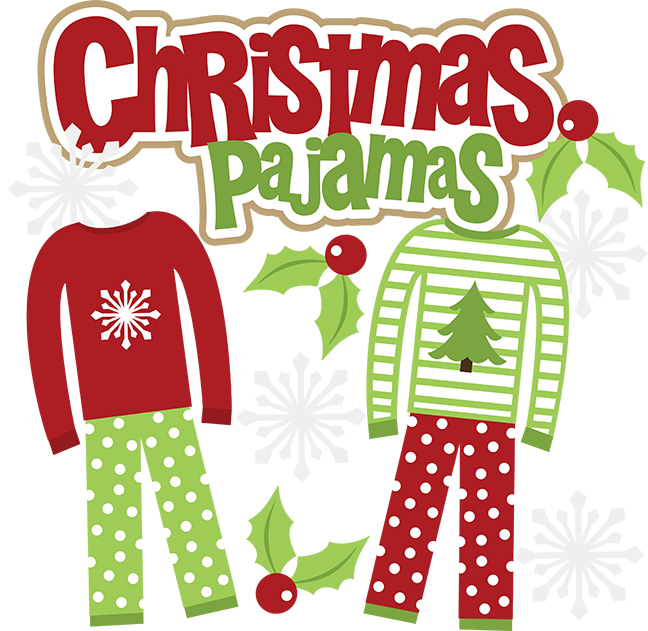 Funny pajama clipart 2