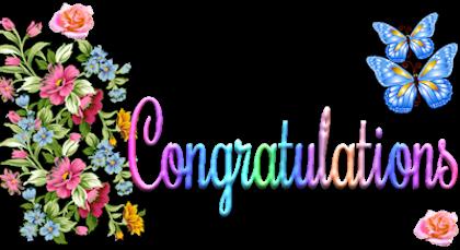 Glitter graphics congratulations clipart image 9 2