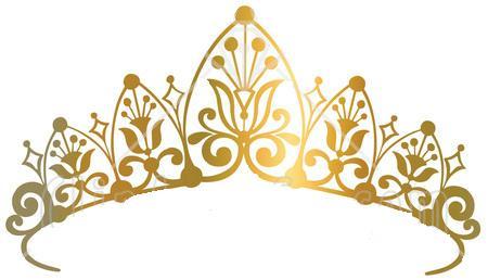 Gold tiara clipart 2