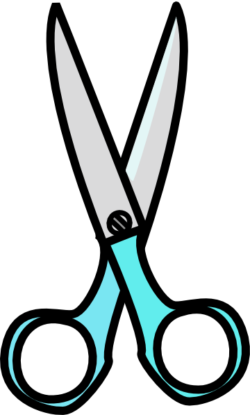 Hair scissors clip art style 2