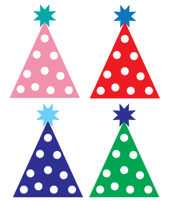 Happy birthday hat clipart 4
