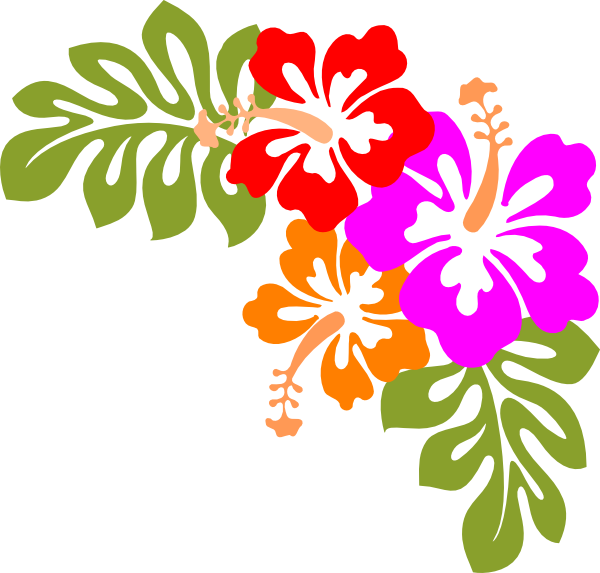 Hawaii luau clipart 3
