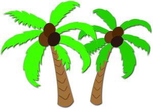 Hawaiian coconut clipart