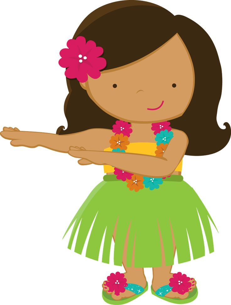 Hawaiian luau clip art to download