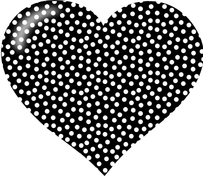 Heart clipart black and white 3 2