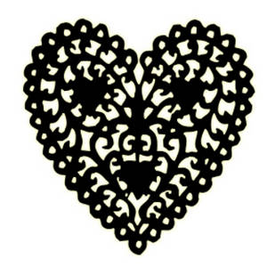 Heart clipart black and white 4