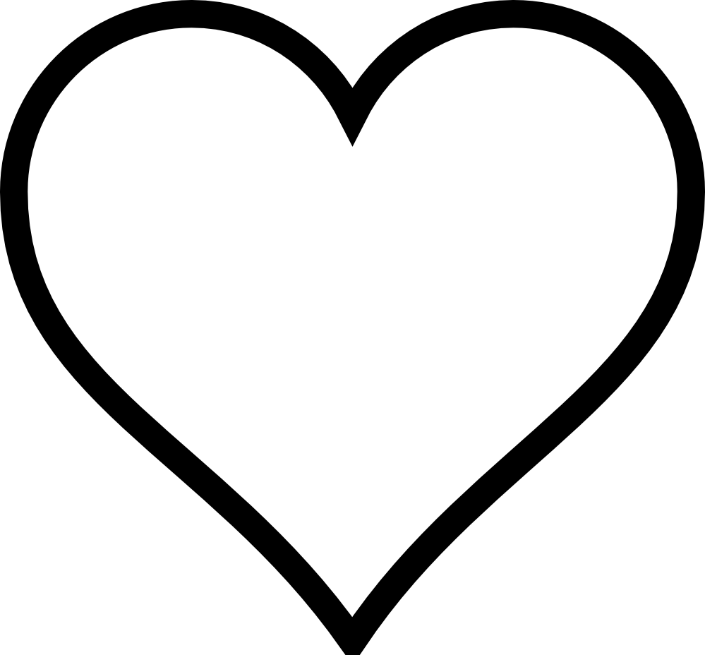 Heart clipart black and white black and white heart clipart 4
